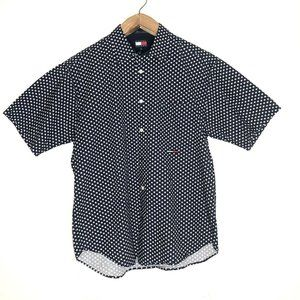 Tommy Jeans XL Button Up Shirt Short Sleeve Stars